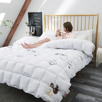 2018去年产品波兰克鲁达赛羽绒被 150x200cm(5斤) 白色