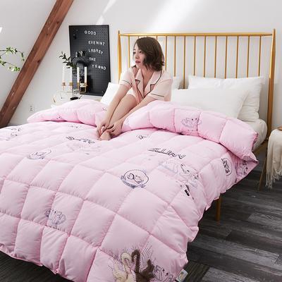 2018去年产品波兰克鲁达赛羽绒被 150x200cm(5斤) 粉色