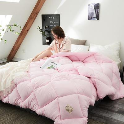 2018去年产品水洗棉冬被托斯卡纳 150x200cm(4斤) 粉色