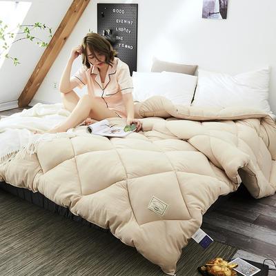 2018去年产品水洗棉冬被托斯卡纳 150x200cm(4斤) 浅咖