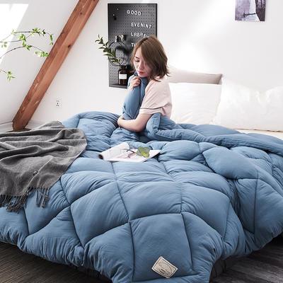 2018去年产品水洗棉冬被托斯卡纳 150x200cm(4斤) 深蓝