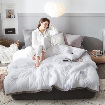 2018去年产品水洗棉冬被维纳丝花边款 150x200cm5斤 维纳丝-本白