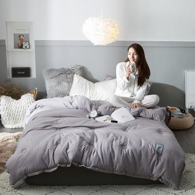 2018去年产品水洗棉冬被维纳丝花边款 150x200cm5斤 维纳丝典雅灰