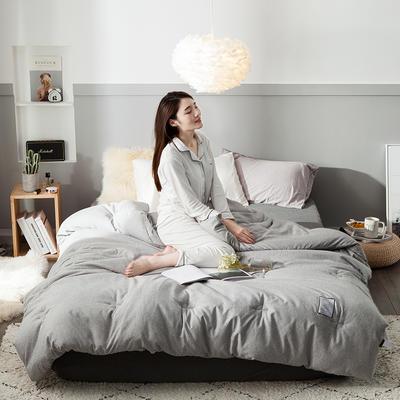 2018去年产品彩棉冬被 150x200cm4斤 香槟灰