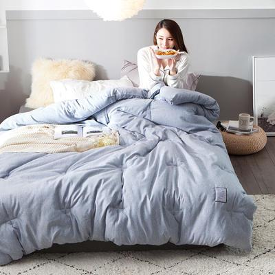 2018去年产品彩棉冬被 150x200cm4斤 岩石蓝