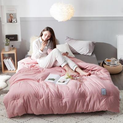 2018去年产品彩棉冬被 150x200cm4斤 樱花粉