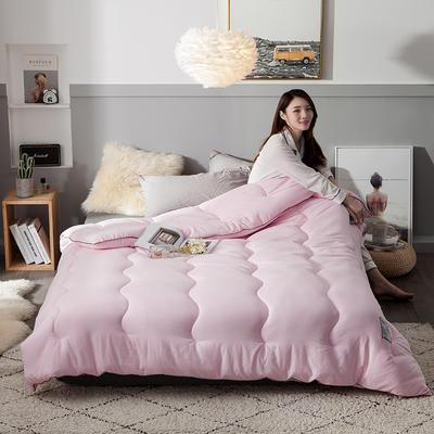 2018去年产品水洗棉羽丝绵保暖冬被 150x200cm5斤 摩登天空-淡粉色