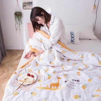 2019新款水洗棉印花夏被 110x150cm  0.7kg 菠萝