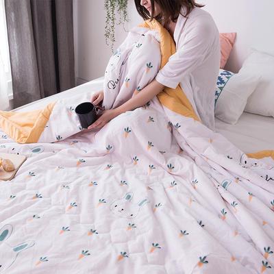 2019新款水洗棉印花夏被 110x150cm  0.7kg 胡萝卜