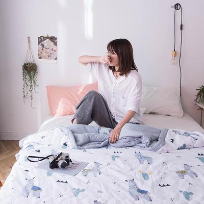 2019新款水洗棉印花夏被 110x150cm  0.7kg 羊驼