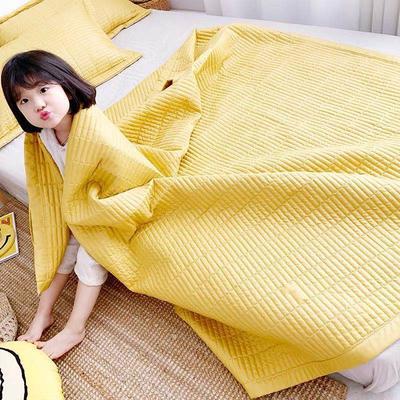 2020新款仿天絲夏被 75x100cm  0.7kg 檸檬黃