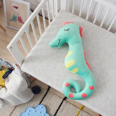 新款海马抱枕公仔毛绒玩具安抚陪睡玩偶送孩子礼品物 35*70cm 海马-绿
