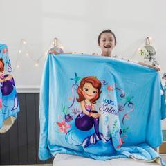 2018新款迪士尼儿童多功能盖毯 小号80*160cm 美人鱼公主