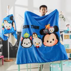 2018新款迪士尼儿童多功能盖毯 小号80*160cm 松松家族 蓝
