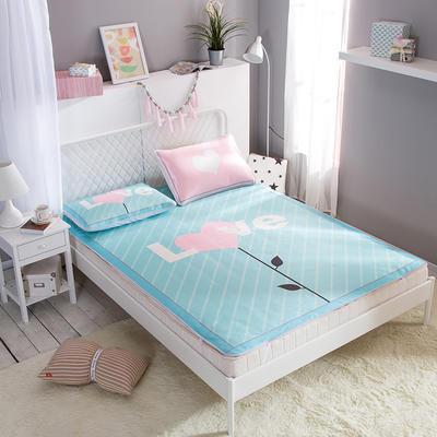 新款数码印花卡通冰丝席单双人空调软席冰丝凉席 1.2m(4英尺)床 爱之语