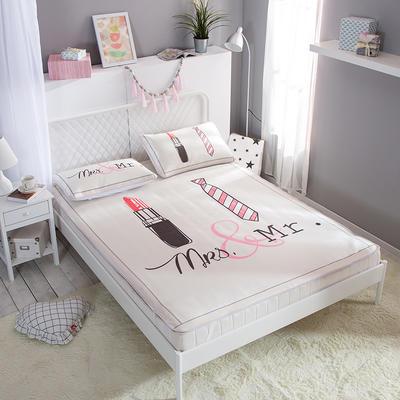 新款数码印花卡通冰丝席单双人空调软席冰丝凉席 1.2m(4英尺)床 唇动