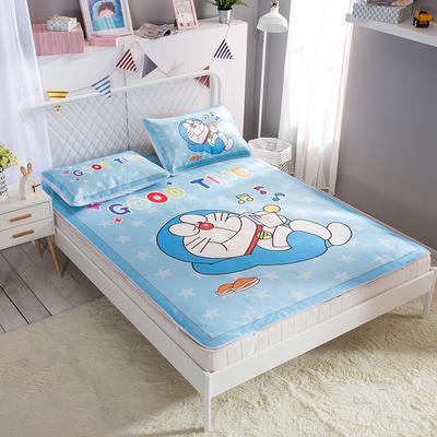 新款数码印花卡通冰丝席单双人空调软席冰丝凉席 1.35m(4.5英尺)床 机器猫