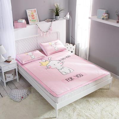 新款数码印花卡通冰丝席单双人空调软席冰丝凉席 1.2m(4英尺)床 猫王