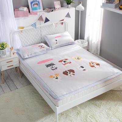 新款数码印花卡通冰丝席单双人空调软席冰丝凉席 1.2m(4英尺)床 旺旺