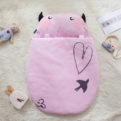 新款婴幼儿小睡袋春秋薄被子四季通用保暖防踢被 小萌牛