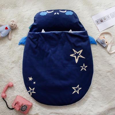 新款婴幼儿小睡袋春秋薄被子四季通用保暖防踢被 星空熊