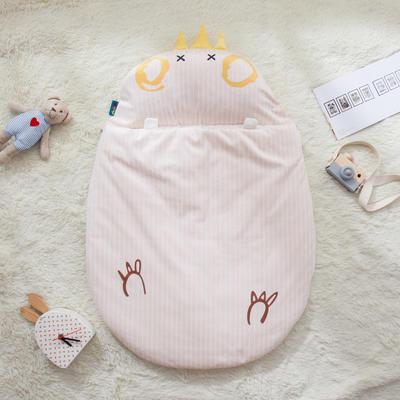 新款婴幼儿小睡袋春秋薄被子四季通用保暖防踢被 皇冠鸡