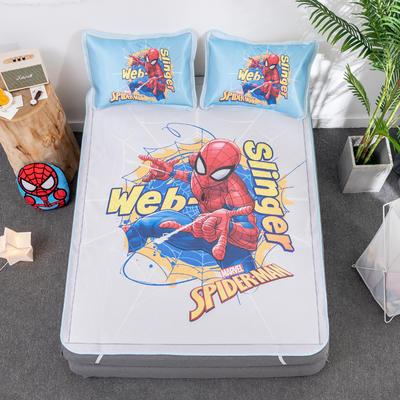 新款正版授权迪士尼数码印花冰丝席三件套卡通空调软席儿童学生宿舍折叠席 1.2m(4英尺)床 蜘蛛侠