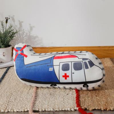 新款数码印花立体款卡通抱枕动植物飞机玩具小汽车儿童可爱小礼物 35x50cm(按实物为准) 立体款-救援机