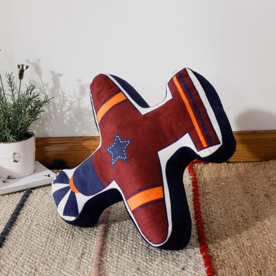 新款数码印花立体款卡通抱枕动植物飞机玩具小汽车儿童可爱小礼物 35x50cm(按实物为准) 立体款-战斗机红