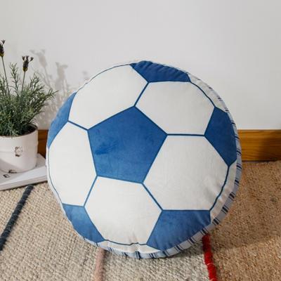 新款数码印花立体款卡通抱枕动植物飞机玩具小汽车儿童可爱小礼物 35x50cm(按实物为准) 立体款-足球
