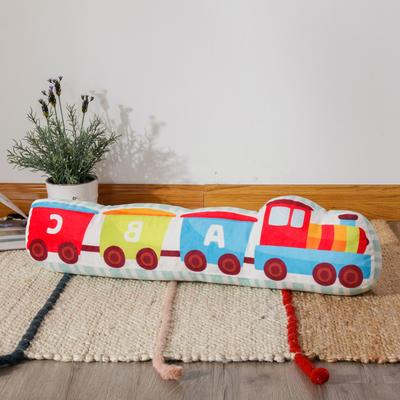 新款数码印花立体款卡通抱枕动植物飞机玩具小汽车儿童可爱小礼物 35x50cm(按实物为准) 立体款-小火车