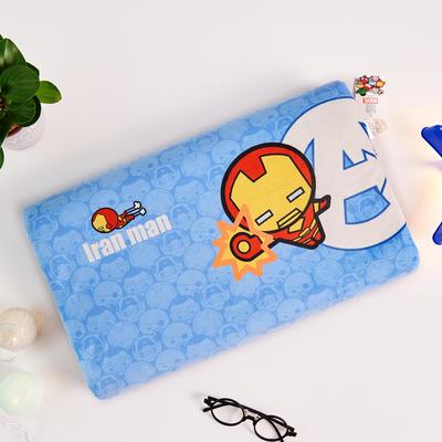 新款迪士尼儿童乳胶枕泰国天然学生慢回弹幼儿园小学生记忆枕宝宝枕 钢铁侠-蓝(小号)
