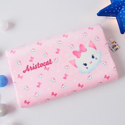 新款迪士尼儿童乳胶枕泰国天然学生慢回弹幼儿园小学生记忆枕宝宝枕 玛丽猫(小号)