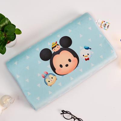 新款迪士尼儿童乳胶枕泰国天然学生慢回弹幼儿园小学生记忆枕宝宝枕 米奇-天蓝色(小号)