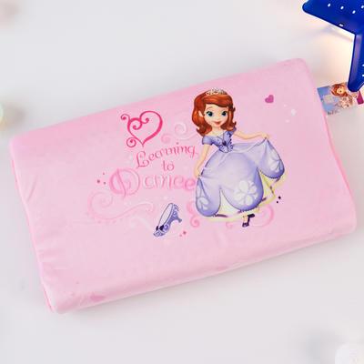 新款迪士尼儿童乳胶枕泰国天然学生慢回弹幼儿园小学生记忆枕宝宝枕 苏菲亚公主-舞蹈(小号)