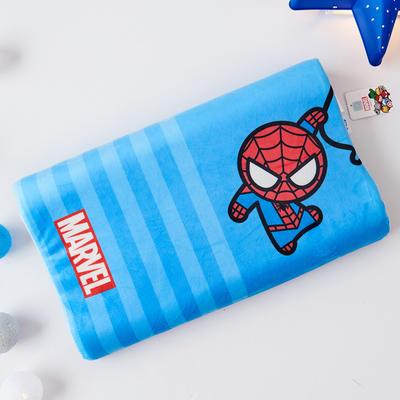 新款迪士尼儿童乳胶枕泰国天然学生慢回弹幼儿园小学生记忆枕宝宝枕 蜘蛛侠-蓝条(小号)