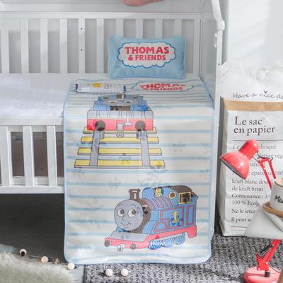 新款婴幼儿冰丝席三件套幼儿园专用宝宝凉席夏季透气午睡席 60*120cm 托马斯