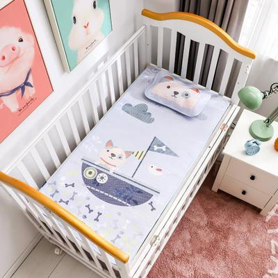 新款婴幼儿冰丝席三件套幼儿园专用宝宝凉席夏季透气午睡席 60*120cm 海盗狗
