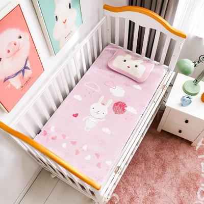 新款婴幼儿冰丝席三件套幼儿园专用宝宝凉席夏季透气午睡席 60*120cm 可爱兔