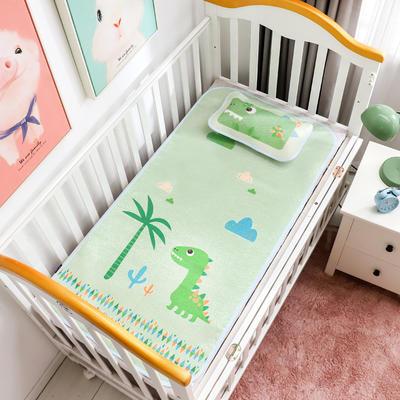 新款婴幼儿冰丝席三件套幼儿园专用宝宝凉席夏季透气午睡席 60*120cm 恐龙