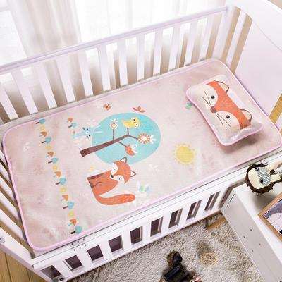 新款婴幼儿冰丝席三件套幼儿园专用宝宝凉席夏季透气午睡席 60*120cm 狐狸