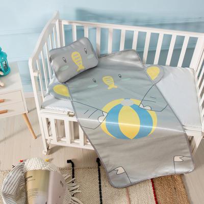 新款婴幼儿立体冰丝席三件套幼儿园专用宝宝凉席夏季透气午睡席 60*120cm 大象