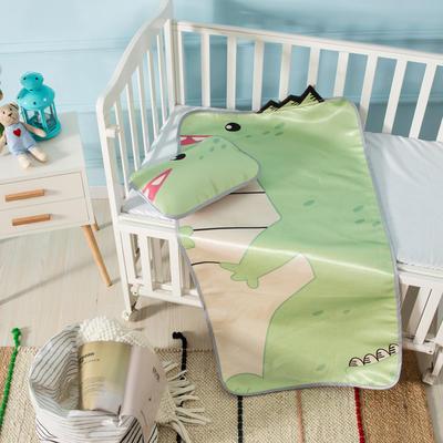 新款婴幼儿立体冰丝席三件套幼儿园专用宝宝凉席夏季透气午睡席 60*120cm 恐龙
