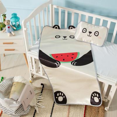 新款婴幼儿立体冰丝席三件套幼儿园专用宝宝凉席夏季透气午睡席 60*120cm 熊猫