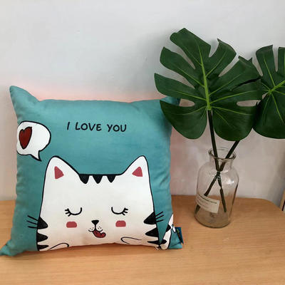 新款幸福猫抱枕 45x45cm 幸福猫3