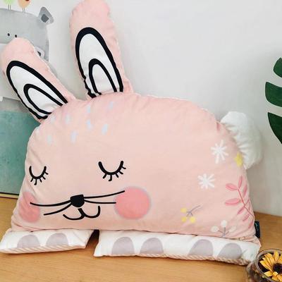 新款异形靠垫 40*60cm 可爱兔靠垫