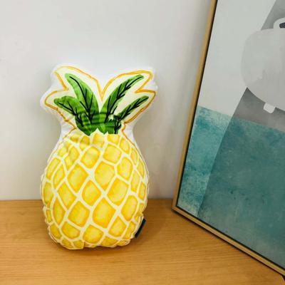 新款数码印花立体款卡通抱枕动植物飞机玩具小汽车儿童可爱小礼物 35x50cm(按实物为准) 菠萝