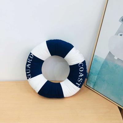 新款数码印花立体款卡通抱枕动植物飞机玩具小汽车儿童可爱小礼物 35x50cm(按实物为准) 救生圈-蓝