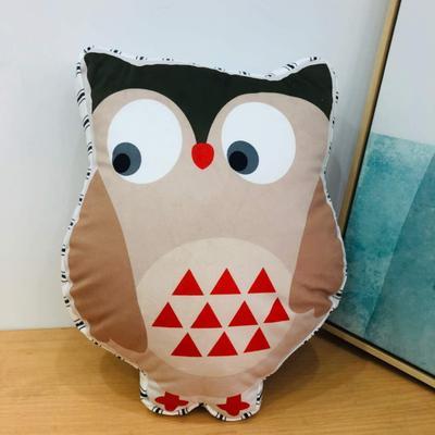 新款数码印花立体款卡通抱枕动植物飞机玩具小汽车儿童可爱小礼物 35x50cm(按实物为准) 猫头鹰