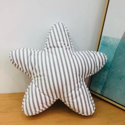 新款数码印花立体款卡通抱枕动植物飞机玩具小汽车儿童可爱小礼物 35x50cm(按实物为准) 条纹五角星